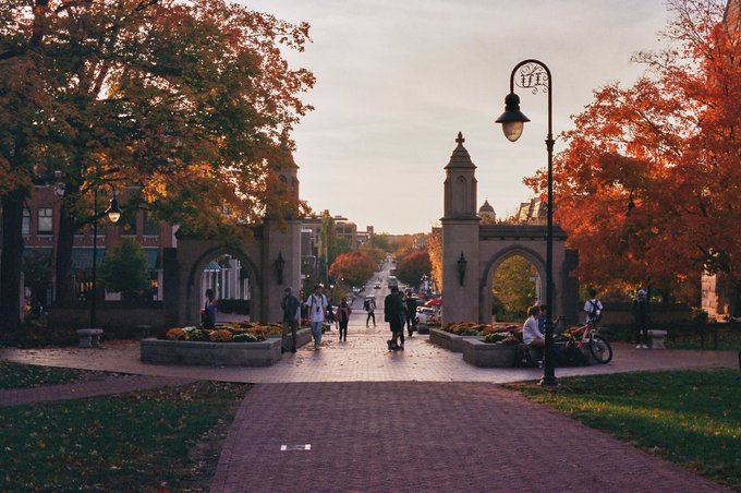@_alexhinson_ Capturing Indiana University in all its fall glory Photo