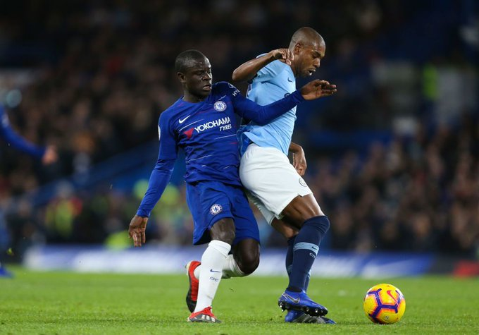 Chelsea news: Maurizio Sarri claims N'Golo Kante's goal against Manchester City was by chance Photo