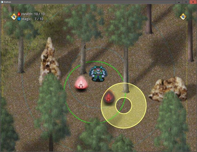 Targeting an enemy with a donut-shaped AoE skill. #rpg #screenshotsaturday Photo