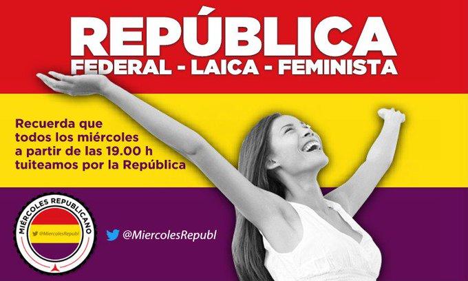 Sin República no tendremos auténtica democracia, participa en la acción en favor de la III República de los miércoles a partir de las h #L6Nmonedero Foto