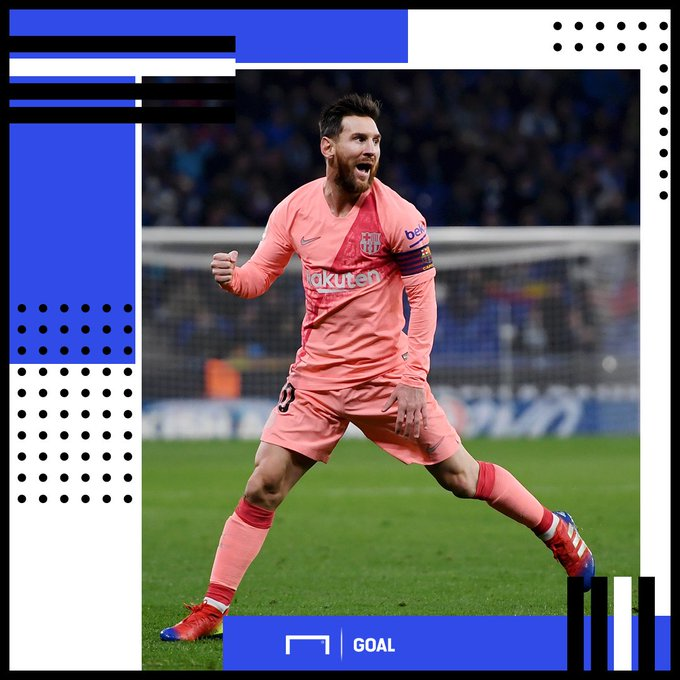 🏅 Lionel Messi is now the only player in La Liga history to have scored 10+ goals in 13 straight seasons. And apparently he's only fifth best in the world… 🤨 Foto