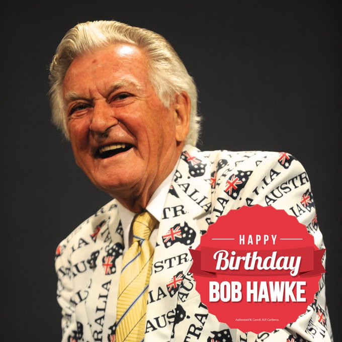 He introduced Medicare after the Liberals dismantled Medibank, saved the Franklin Dam, introduced compulsory superannuation and much more. And today he turns 89. Happy birthday, Bob Hawke! Photo
