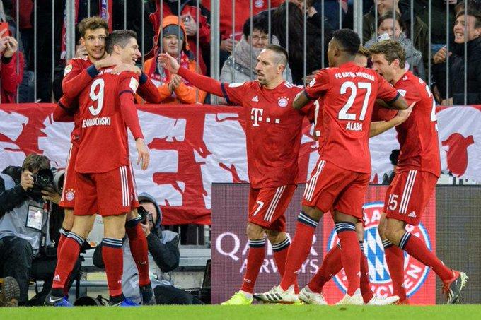 Primeira vitória em casa do Bayern na Bundesliga desde Setembro contra o Leverkusen - Primeiro clean-sheet na Bundesliga em 9 jogos. #FCBFCN Foto