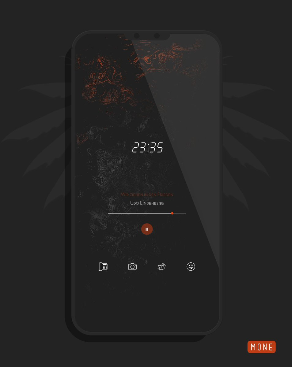 "ᴍᴏɴᴇ on Twitter: ""My night setup is very simple .. Cheesecake Kwgt Wallpaper in original 'Hysteresis' from @verge… """