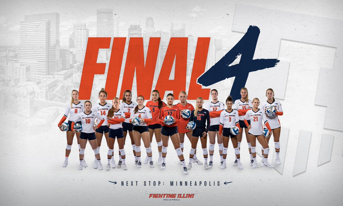 FINAL FOUR, BABY!  See you next week in Minneapolis!  #ILLINI