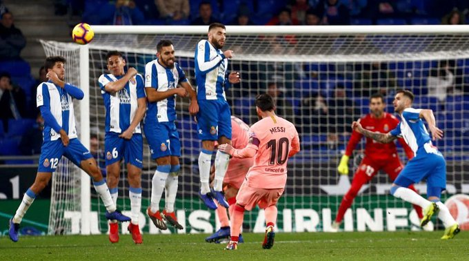 Lionel Messi nets brace as @FCBarcelona destroy @RCDEspanyol 4-0 in Catalan derby Photo