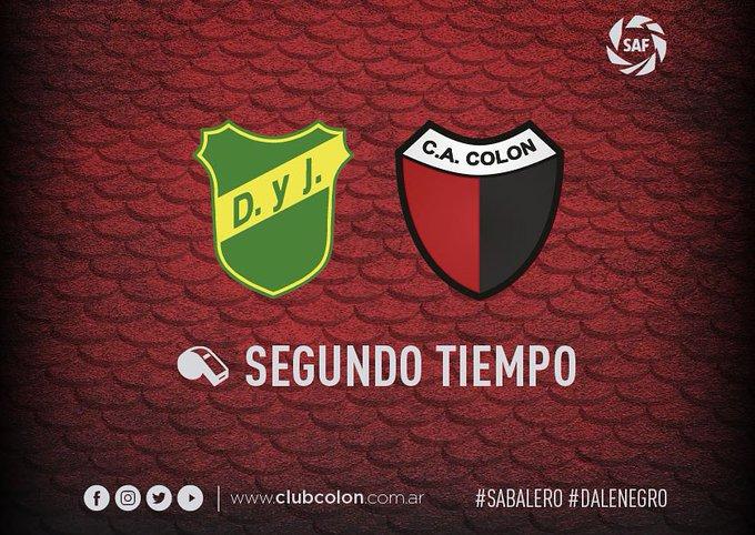Comienza el segundo tiempo en Florencio Varela. Defensa y Justicia vence a Colón por 2 a 0. Foto