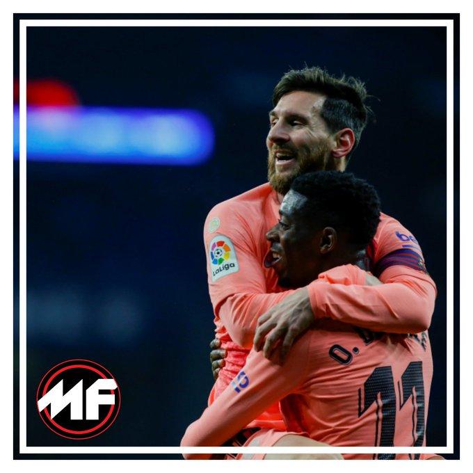 ¡EL DERBY CATALÁN ES PARA EL BARÇA!... OTRA VEZ. 🤭 Barcelona golea de visita 4-0 al Espanyol con anotaciones de Luis Suárez 🇺🇾, Dembélé 🇫🇷 y doblete de Messi 🇦🇷. #LaLiga #EspanyolBarca Foto