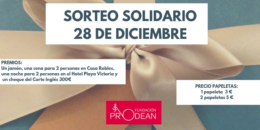 Fundacion Prodean On Twitter Sorteo Solidario Prodean Dia 28