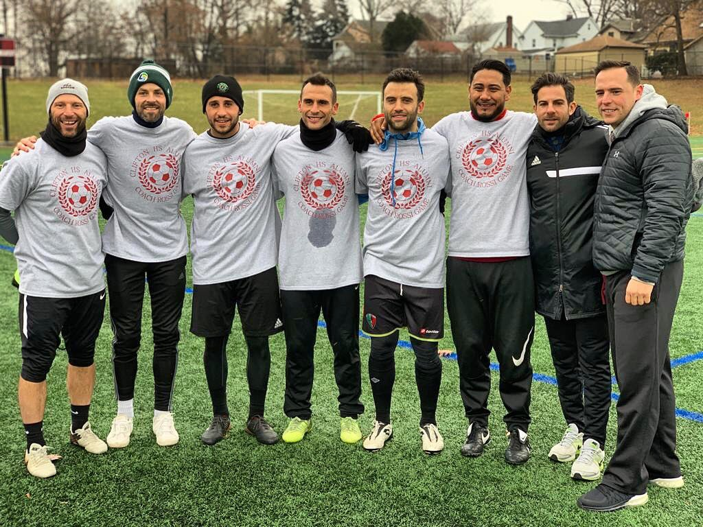 Nothing beats playing and hanging with old friends. Great alumni game today in remembrance of the G.O.A.T., my father, Fernando Rossi. Thanks to everyone who came out! ❤️#passion #love #friends #legend #memories #clifton
