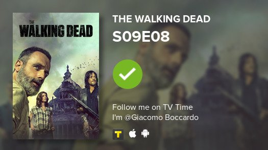 test Twitter Media - I've just watched episode S09E08 of The Walking Dead! #TWD  #tvtime https://t.co/G0F6EzIXrS https://t.co/cByXKFZreV