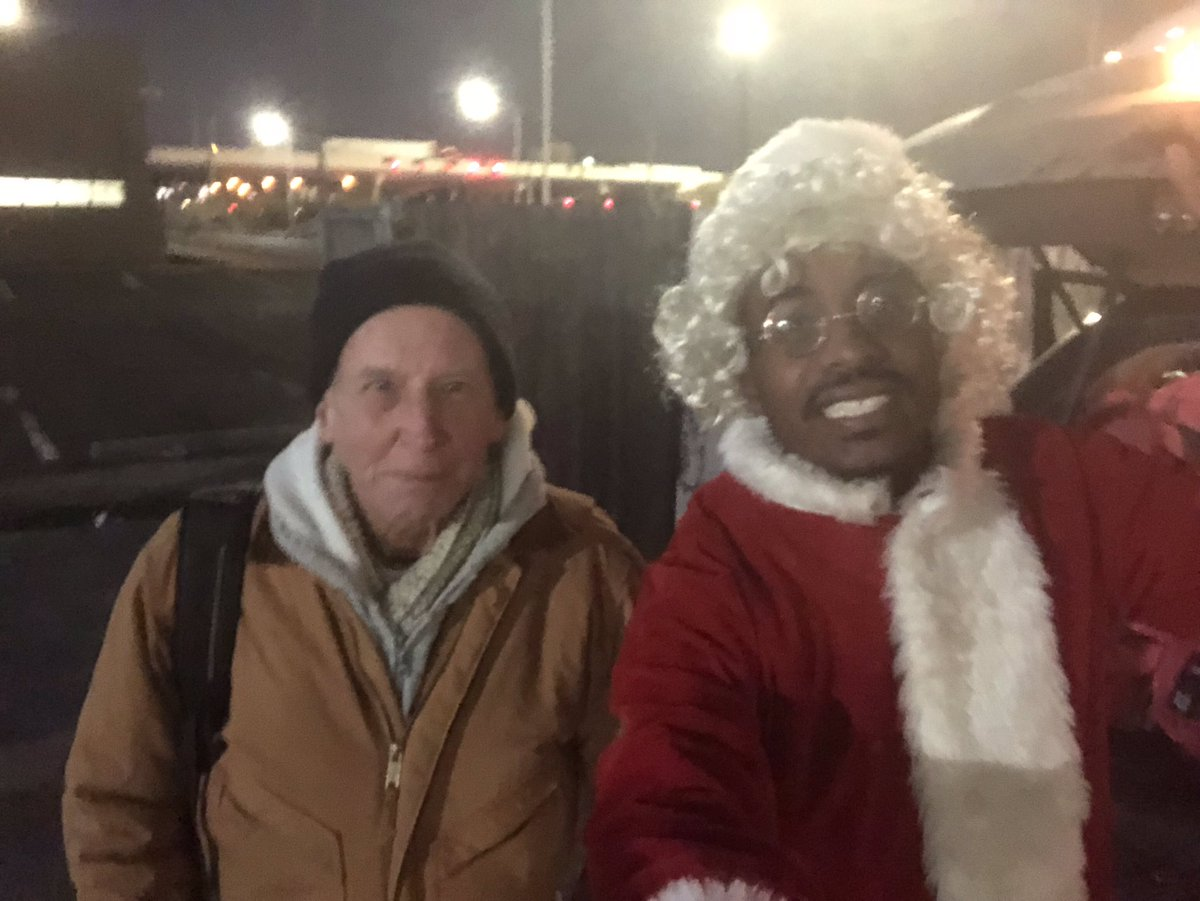 Meet Grady. He's been homeless for 3 years in Indianapolis,IN . He said the winter months are brutal but he does his best to stay warm . Say hi to my Elves . Caleb squared who completed the 50 yard challenge and their moms and grandma .