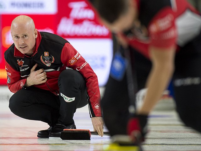 A strong finish with four stolen points in the final three ends led @TeamKevinKoe of Calgary to victory in the @home_hardware Canada Cup semifinal against Brad Gushue. Read our story here: #CanCup2018 Photo