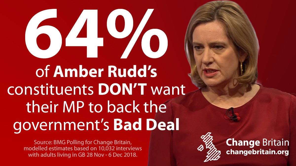 Change Britain polling reveals that in the highly marginal seat of Hastings and Rye, most voters dont want their MP Amber Rudd to back the governments Brexit deal.