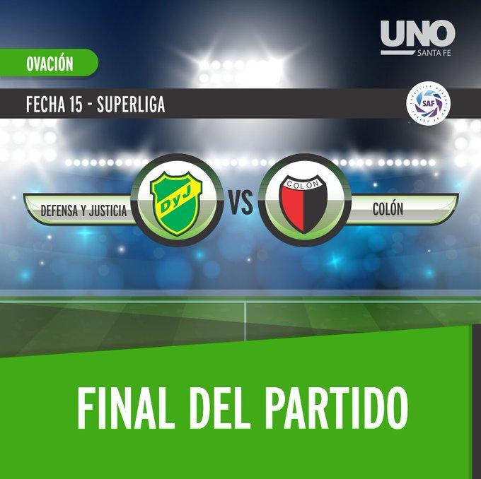 ⚫🔴 ¡Terminó el partido en Florencio Varela! #Colón recibió un duro golpe y cayó por 3-0 ante #Defensa en su último partido de 2018 Foto