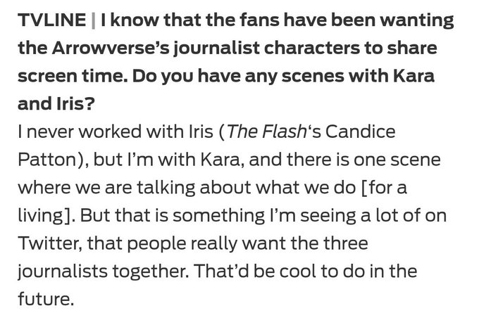 Elizabeth Tulloch was asked by the Tv Line if she would have scenes of her along with Iris and Kara in the #Elsewords crossover event #TheFlash ภาพถ่าย