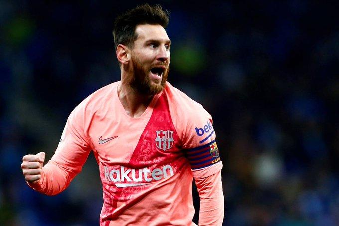 Messi guió goleada de Barcelona 4-0 en el derby catalán Photo