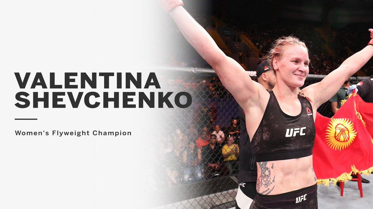 Champion!  Valentina Shevchenko beats Joanna Jedrzejczyk to become the new UFC women's flyweight title holder.