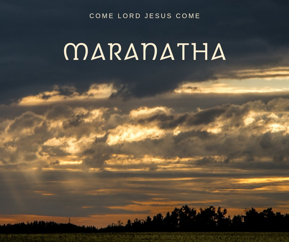 We eagerly await the coming of Christ! &quot;Our Lord, come!&quot; (I Corinthians 16:22b)<br>http://pic.twitter.com/gcXNqPhAJg