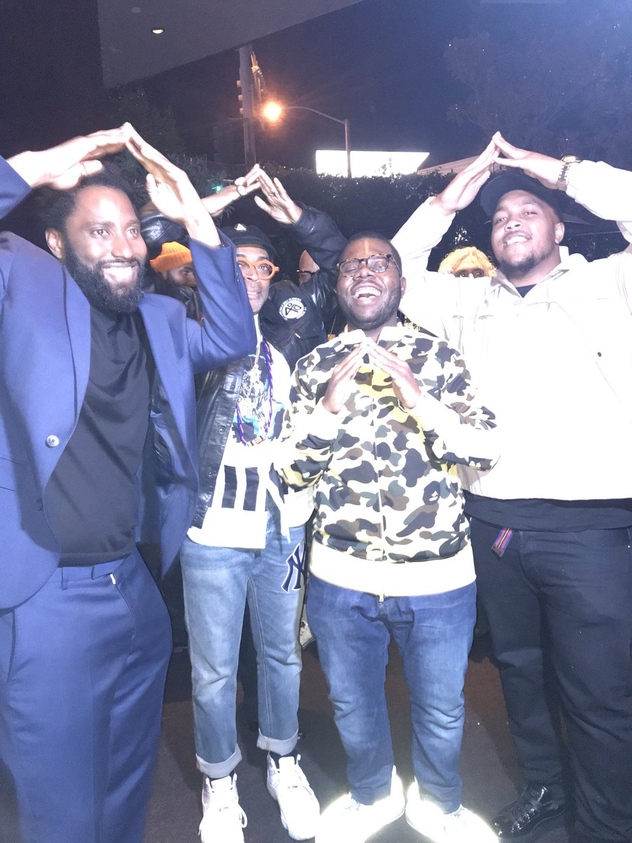 Salute Spike and John David Washington @Morehouse #BlacKkKlansman<br>http://pic.twitter.com/5woCaZQAif