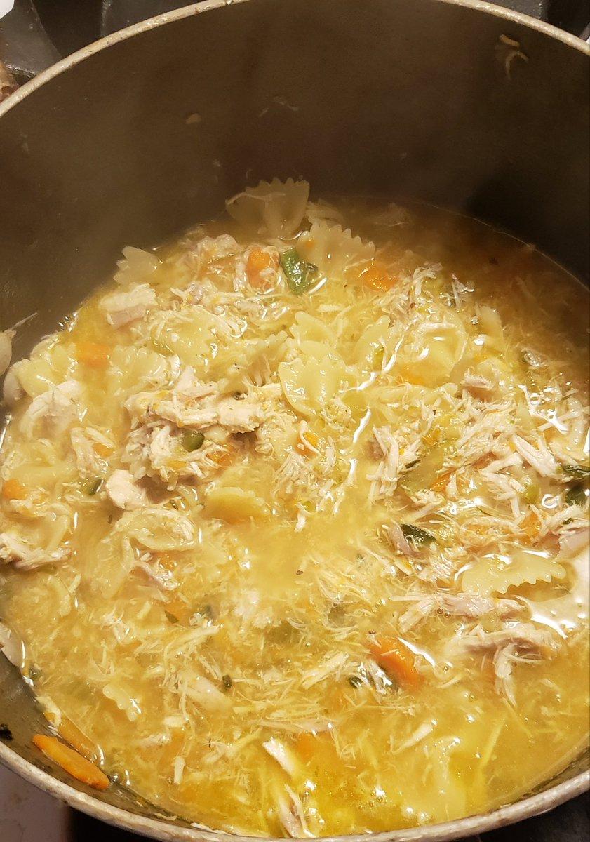 Homemade chicken noodle boh