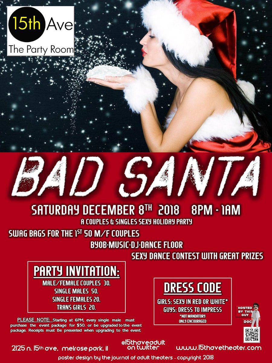 Its Showtime Bad Santa Is Officially Open 8pm Til 1am Byob Everyone Is Invited Sexy Dance Contest Super Special Sexy Guests