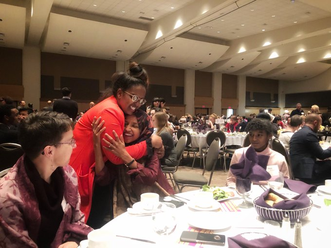 Celebrating the power of the progressive movement tonight at #PeoplesParty18 with @TakeActionMN! 🎉🎉🎉✊🏾✊🏾✊🏾✊🏾 Photo