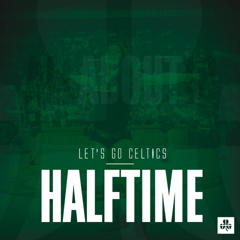 ☘️CELTICS 64 X 43 BULLS☘️ Depois de começar a partida com um 17 a 0, Celtics vai ao vestiário ganhando por 21 pontos. Bom jogo celta #NBAnoSporTV #CUsRise Foto