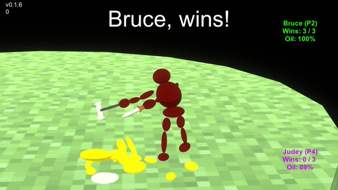 Oh no, Bruce is I did NOT program you to be like #gamedev #screenshotsaturday Photo