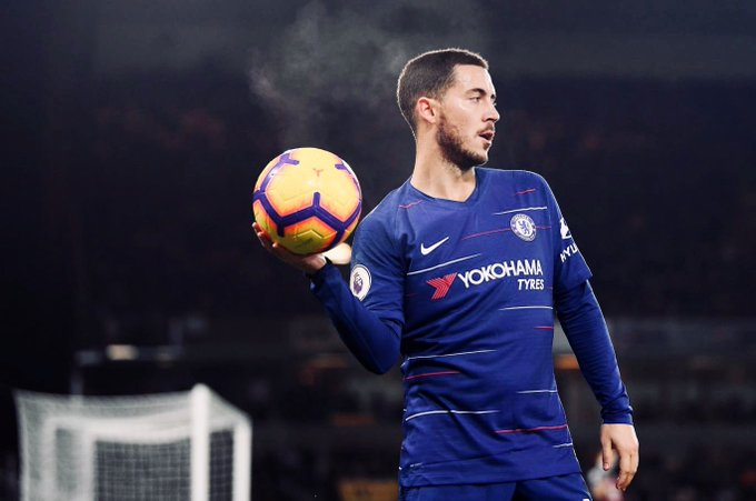 41 - Hazard is directly involved in 41 goals in 60 matches for club and country in 2018 (23 goals, 18 assists). Photo
