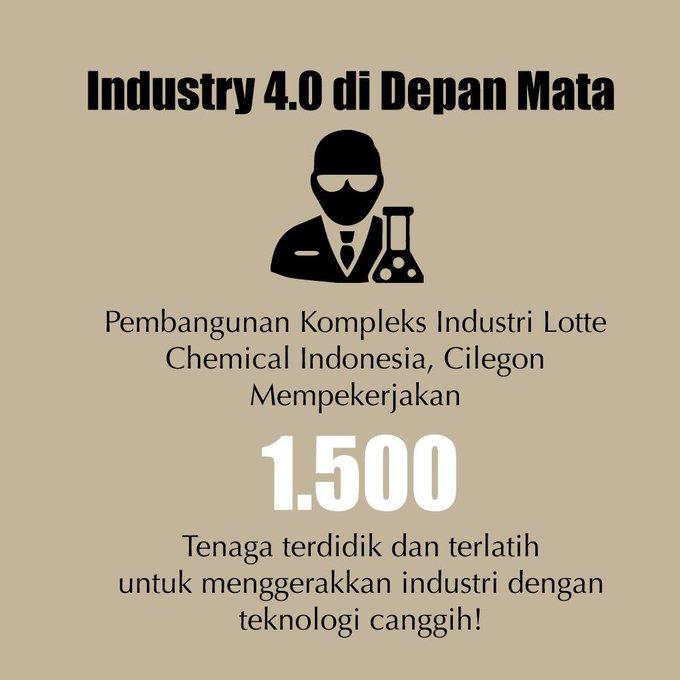 Kementerian @Kemenperin_RI terus mendorong tumbuhnya industri petrokimia di Indonesia untuk semakin memperkuat struktur manufaktur nasional dari sektor hulu sampai hilir. #bersamamuindonesiamaju Photo