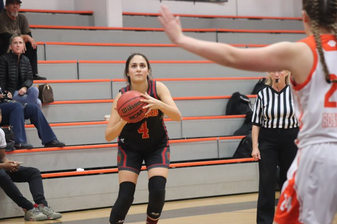 Senior @4Nikabagatelos hit a career-high nine three-pointers and tallied a career-high 29 points to lead St. Francis to a 71-57 victory over host Roseville Saturday afternoon in the consolation final. Photo