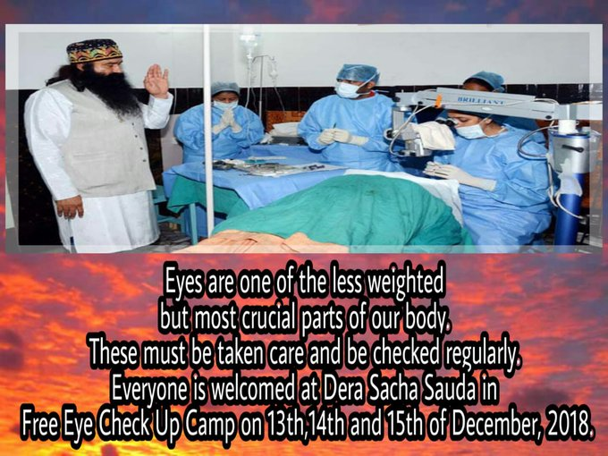 #FreeEyeCampRegistration Its a great welfare work for all eye patients Photo