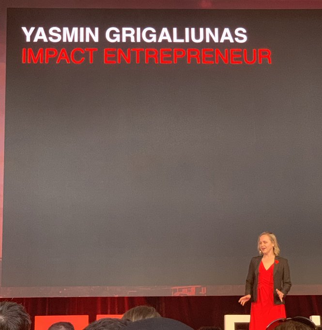 Wow @yasgrigaliunas you had tears in the audience with the story of your daughter's dress #TEDxBrisbane Photo