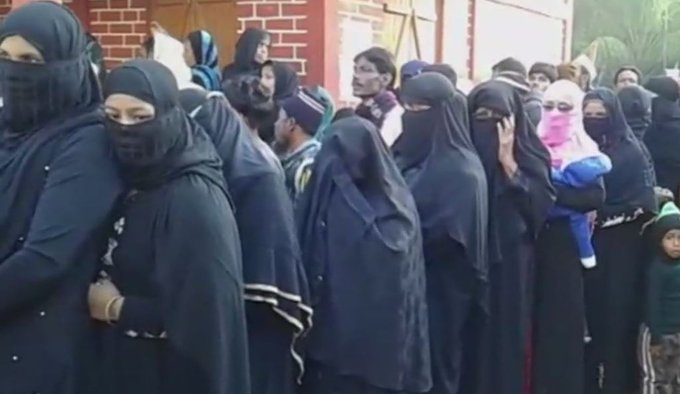 Voting underway for the 2nd phase of panchayat polls in #Assam. Visuals from a polling station in Karimganj. #TV9News Photo