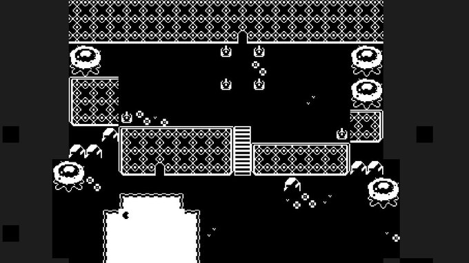 Gonna be playing with a 1-bit aesthetic today #screenshotsaturday #gamedev Photo