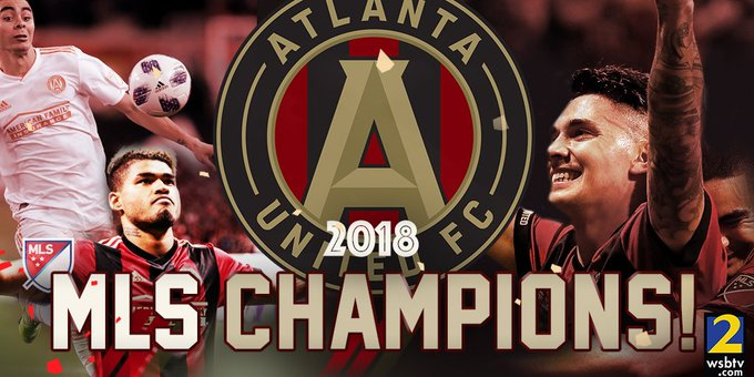 THEY DID IT!! Congratulations to your 2018 @MLS champion @ATLUTD, who beat the Portland Timbers 2 - 0 to win their first title in only their second season! #UniteAndConquer 🏆⚽ Photo