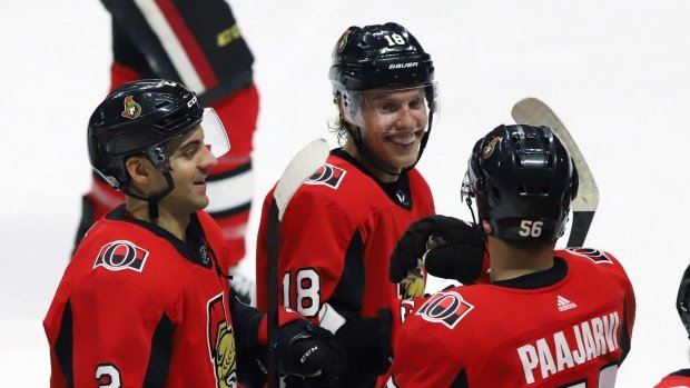 Dzingel scores in OT as Senators edge Penguins. MORE: Photo