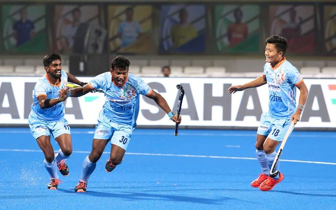 Congratulations @TheHockeyIndia outclassed Canada by beating 5-1 and making it to the quarter finals of Odisha Hockey World Cup. #HWC2018 @sports_odisha Photo