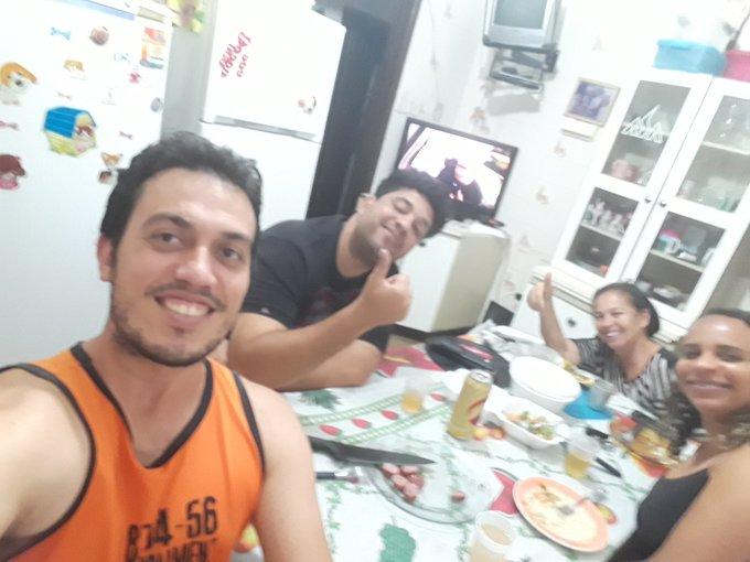#AltasHoras Show de bola. Ilton, Ivana, Glauber e Ivana. Cruz das Almas Bahia. Foto