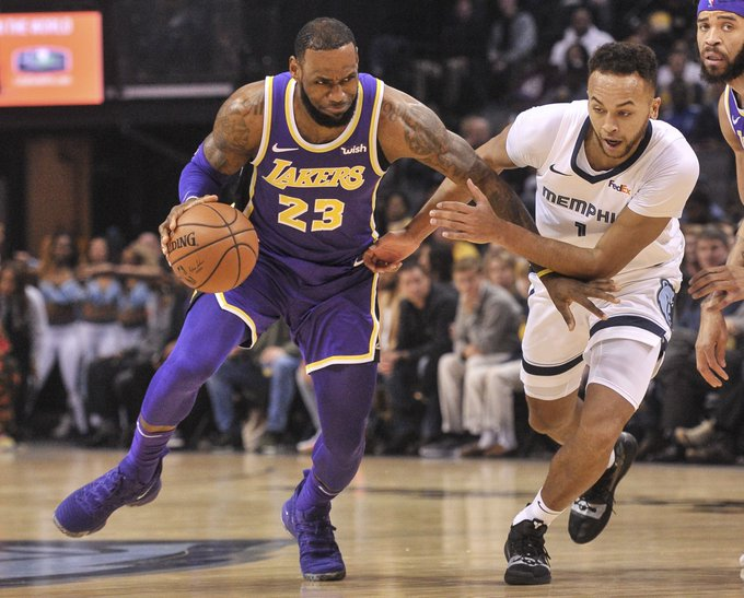 LeBron was good tonight, and Memphis was not. Grizzlies fall to Lakers - here's how Photo