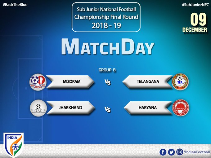 Couple of enticing matches are lined up today in the Group B of Sub Junior National Football Championship. #SubJuniorNFC #BackTheBlue Photo