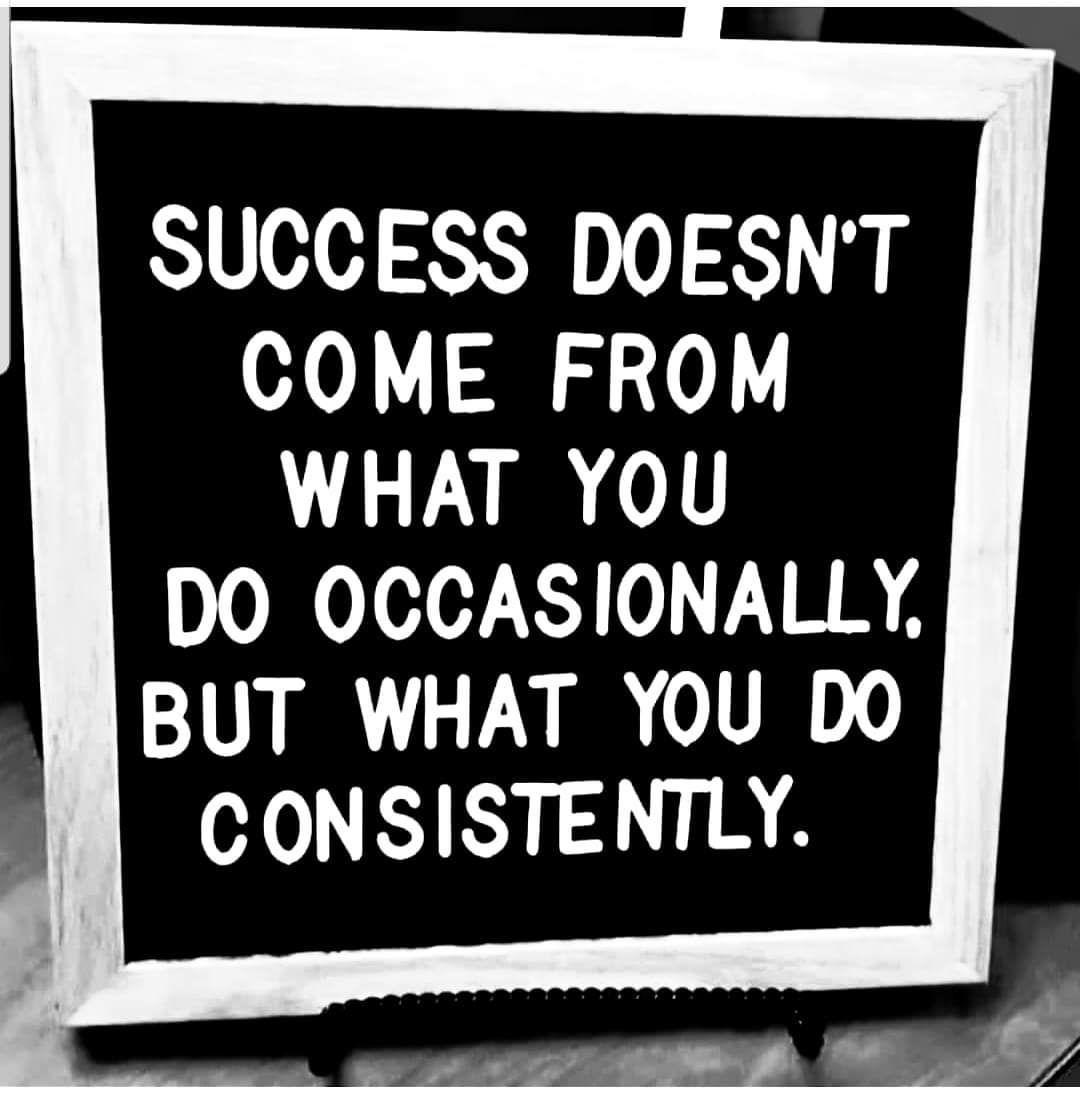 Consistency is key! #thinkbigsundaywithmarsha #riseandgrind #success #rbsknowledge<br>http://pic.twitter.com/CqAA8haw8h