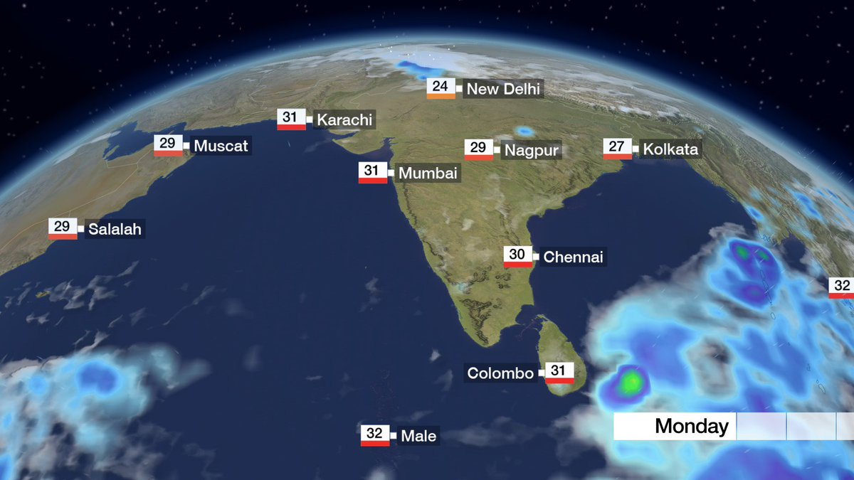 #Fog could affect travel in northern parts of India in the days ahead. We are also watching possible #cyclone development in the Bay of Bengal later this week. Nick