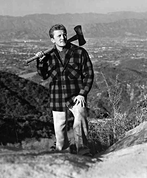 Kirk Douglas, born on this date December 9 in 1916, is 102 today. Happy birthday, Kirk Douglas. Photo by Photofest: Kirk Douglas near his residence in Los Angeles, circa 1950.