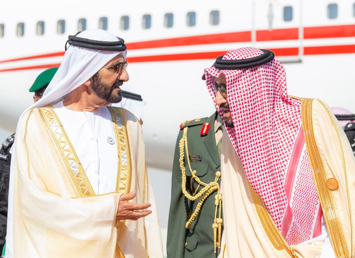 The arrival of GCC leaders to attend the Gulf summit ... and King Salman at the reception Dt96QdiW4AEZrI6