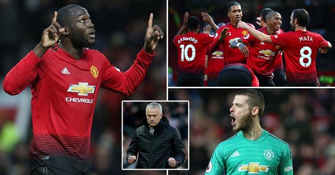Ashley Young, Juan Mata, Romelu Lukaku and Marcus Rashford strike in first half against Fulham to hand boost to under-fire boss Jose Mourinho Photo
