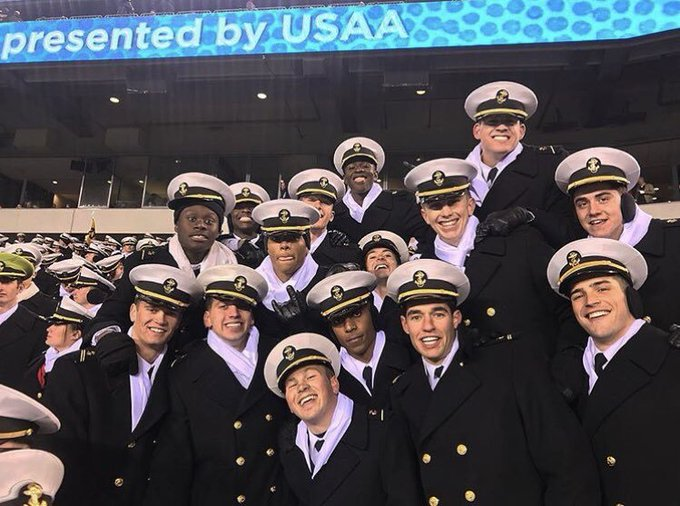 My brothers were out here in full effect @NavyMSoccer #ArmyNavyGame Photo