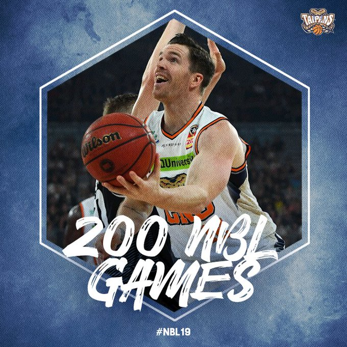 Shout out to @Lucaswaxy clocking up game 2⃣0⃣0⃣ today in Perth 👏 #NBL19 #CNSatPER Photo