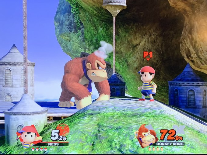 new smash has harambe and the kid that fell into the cage but no waluigi wow ok Foto